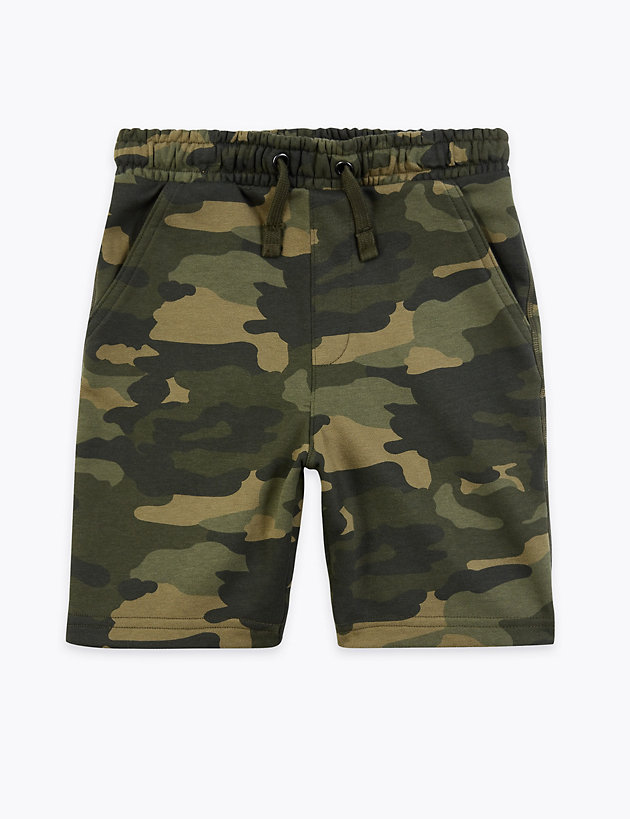 Cotton Camouflage Shorts (6-16 Years)