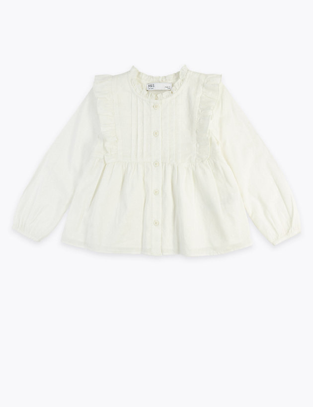 Cotton Frill Blouse (3 Months - 7 Years)