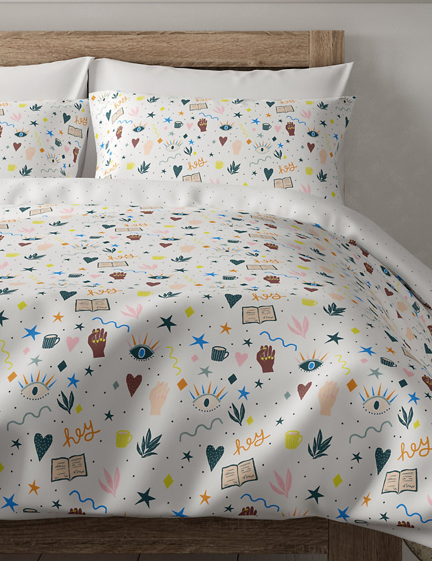 Cotton Hey Print Bedding Set