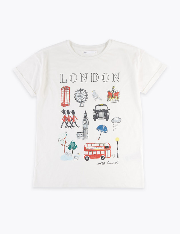 Cotton London Design T-Shirt (2-16 Years)