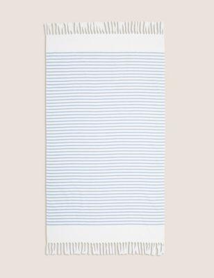 Cotton Mix Striped Hammam Beach Towel M&S