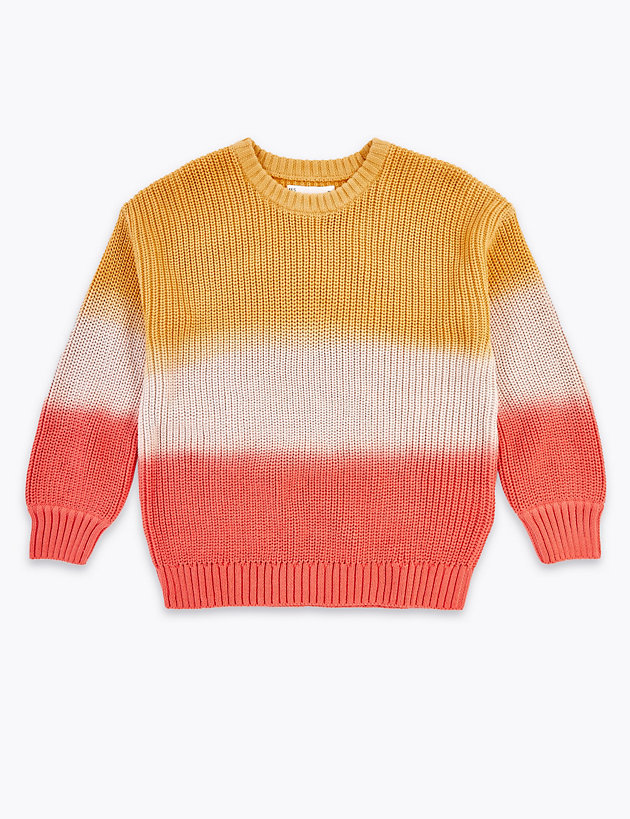 Cotton Ombre Knitted Jumper (6-16 Years)