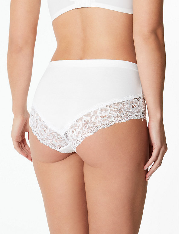 Knickers M/&S CollectionCotton Rich High Rise Shorts Knickers Size 8