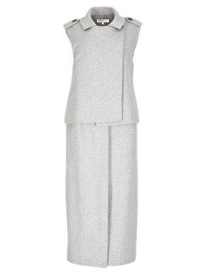 18c36b4f0 Cotton Rich Longline Sleeveless Jacket