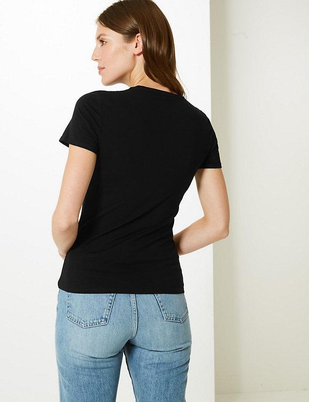 M/&S COLLECTION Women/'s  Cotton Rich Short Sleeve Shirt NEW!!