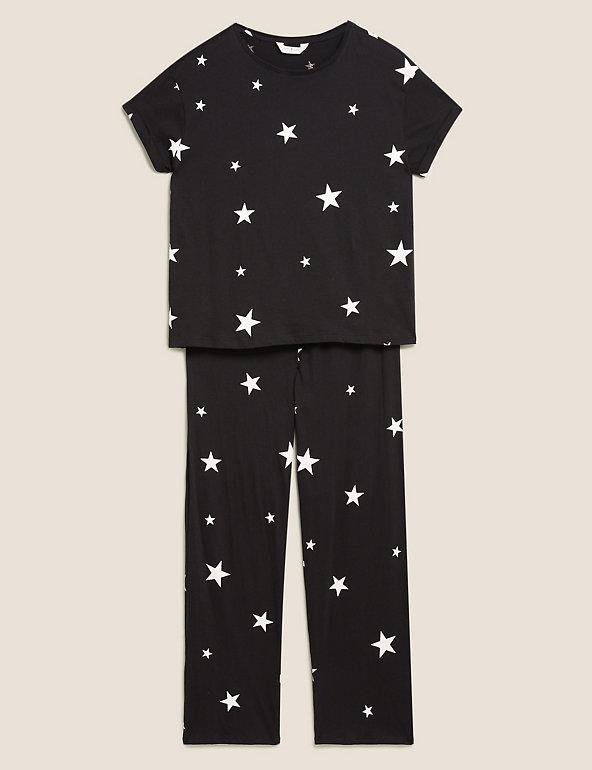 TAILLE 8 BNWT RRP £ 30.00 M/&s Avoine Star 99/% coton Pyjama Set