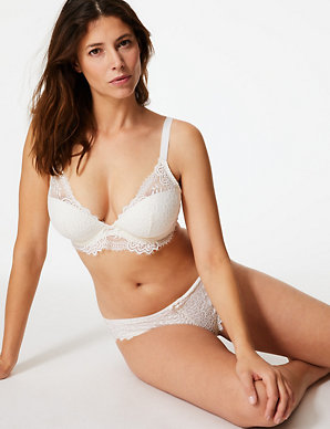 ca1d342eaa0 Crochet Padded Plunge Bra DD-GG | M&S Collection | M&S