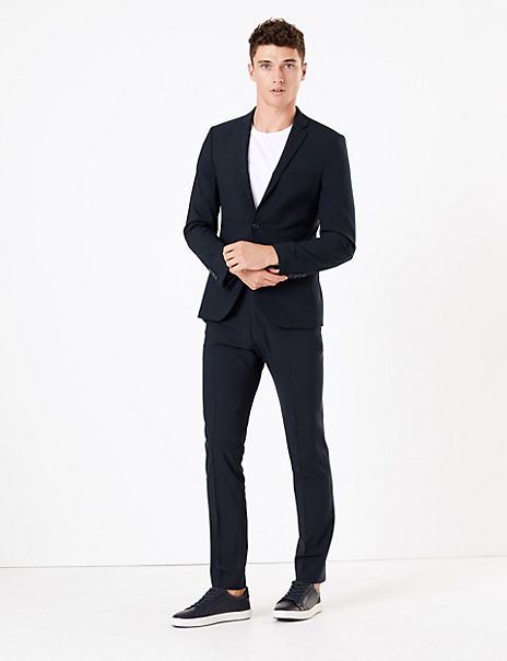 The Ultimate Navy Skinny Fit Wool Blend Suit