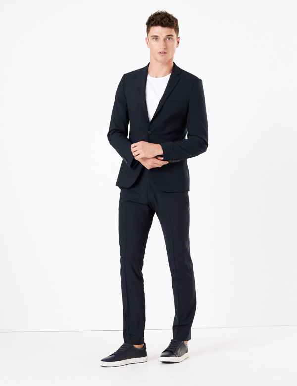 9d9699d7ce2 The Ultimate Navy Skinny Fit Wool Blend Suit
