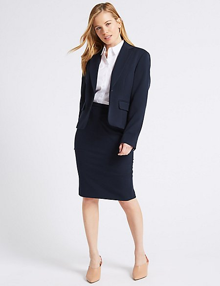 PETITE Blazer & Pencil Skirt Suit Set