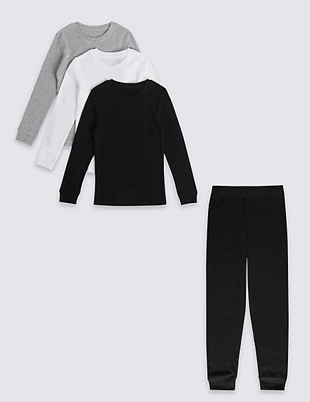 Cotton Blend Thermal Vest & Long John Set