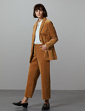 Cotton Rich Blazer & Trousers Suit Set