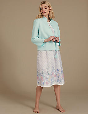 Bed Jacket & Nightdress Set