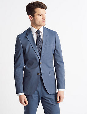 Cotton Rich Tailored Fit Suit