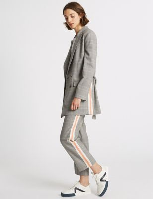 Checked Blazer & Trousers Suit Set by Limited Edition