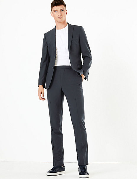 The Ultimate Navy Checked Slim Fit Suit