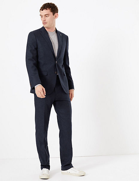 Tailored Fit Italian Wool Blend Suit