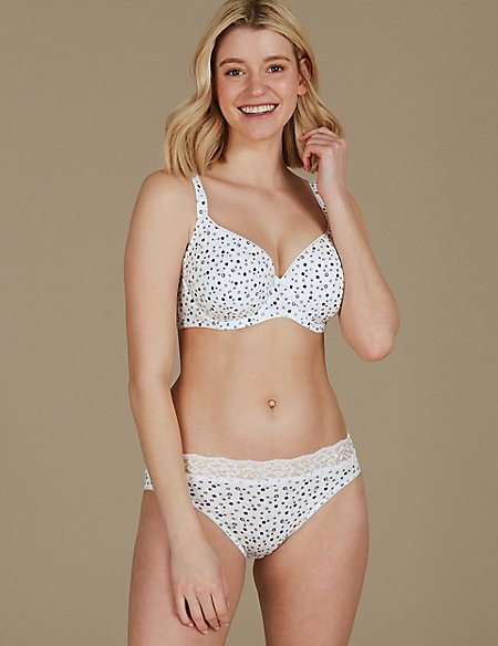 Cotton Rich Padded Set with Full Cup A-E