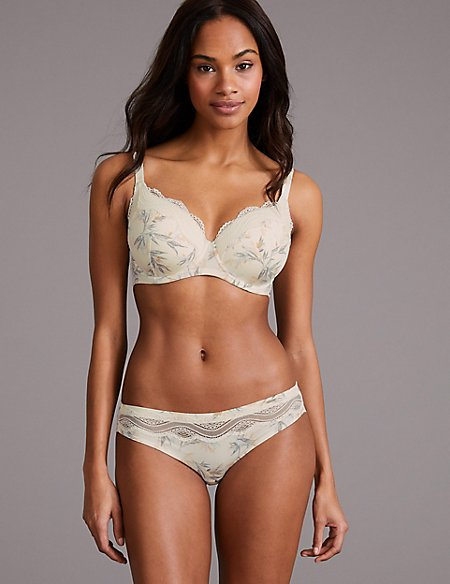 Lace Padded Set with Full Cup A-E