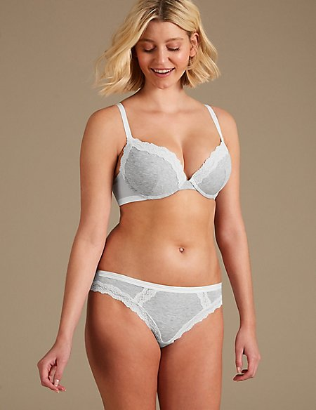 2 Pack Lace Set with Padded Plunge A-DD