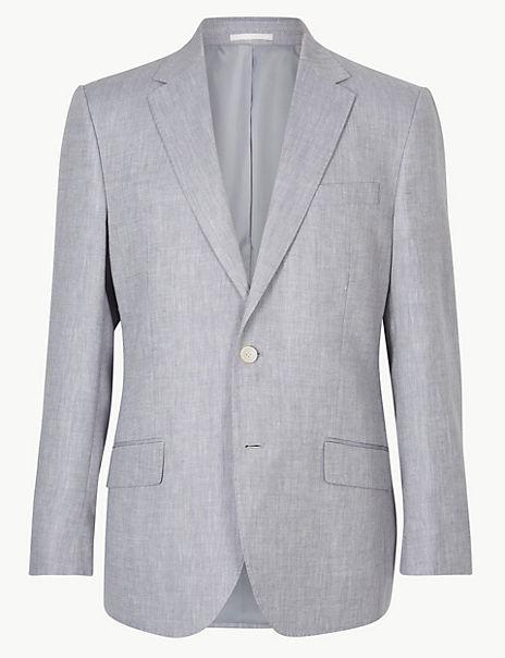 Slim Fit Linen Miracle Suit