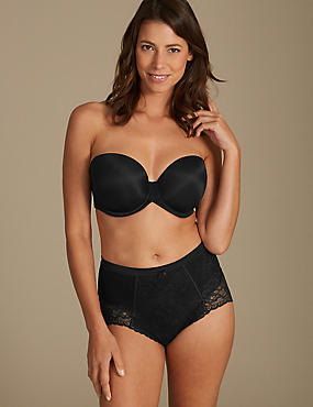 Firm Control Floral Lace Set with Padded Full Cup DD-GG