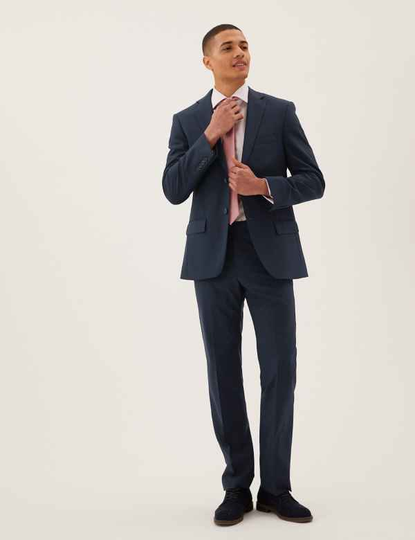 02f974529d35 The Ultimate Navy Regular Fit Wool Blend Suit