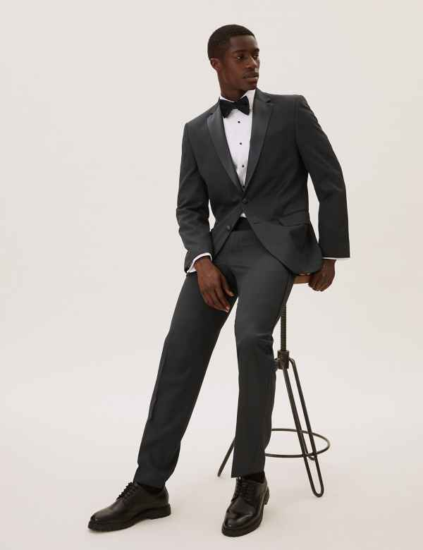 06e431b210e Black Regular Fit Tuxedo Suit