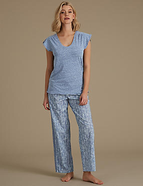Textured Short Sleeve Pyjama Set