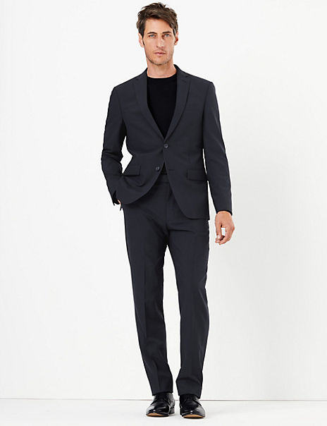 The Ultimate Navy Checked Tailored Fit Suit