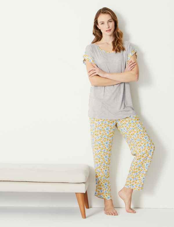 a5228ff08 Floral Short Sleeve Pyjama Set