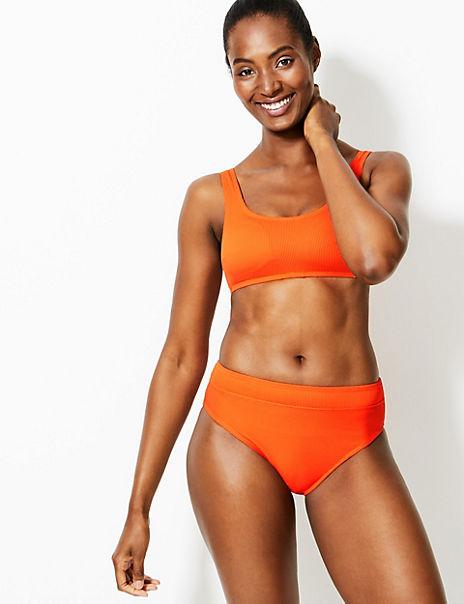 Padded Scoop Neck Bikini Set
