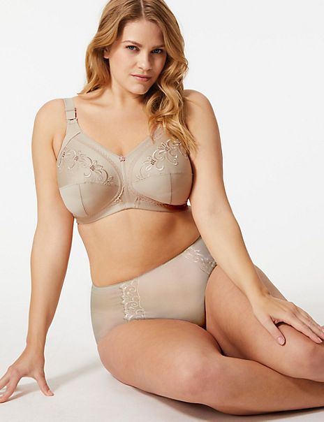 Total Support Embroidered Set with Crossover Full Cup B-G