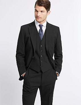 Black Regular Fit 3 Piece Suit