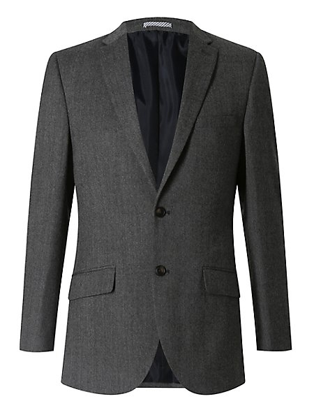 Grey Textured Slim Fit 3 Piece Suit