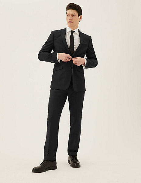 Black Slim Fit Suit with Stretch