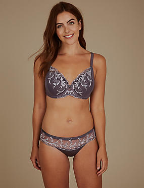 Embroidered Padded Set with Full Cup A-E