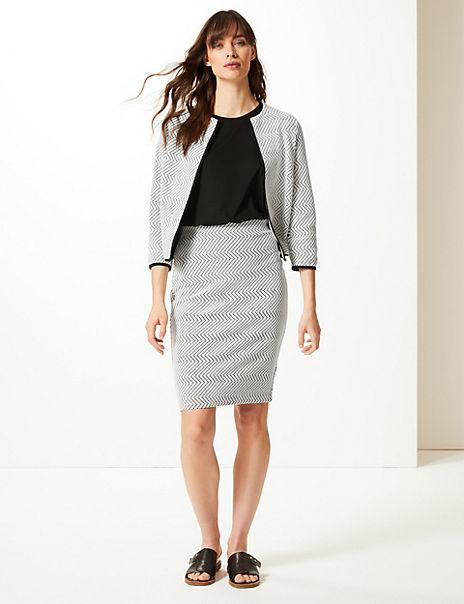 Blazer & Pencil Skirt Suit Set