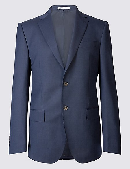 Indigo Textured Regular Fit 3 Piece Suit