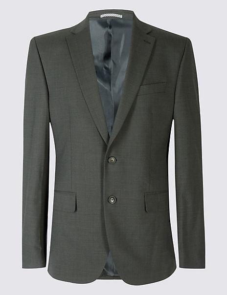 Charcoal Textured Regular Fit Suit