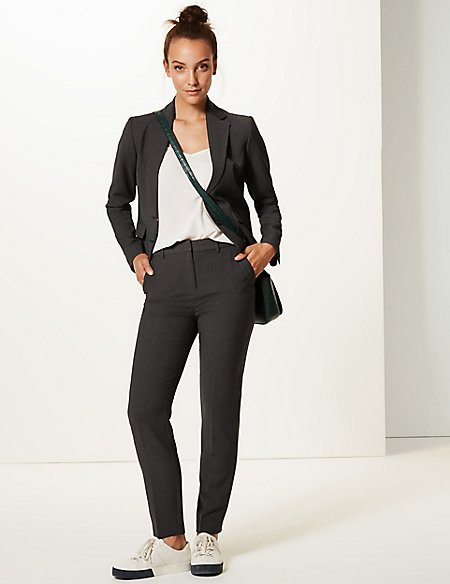 Textured Blazer & Slim Leg Trousers