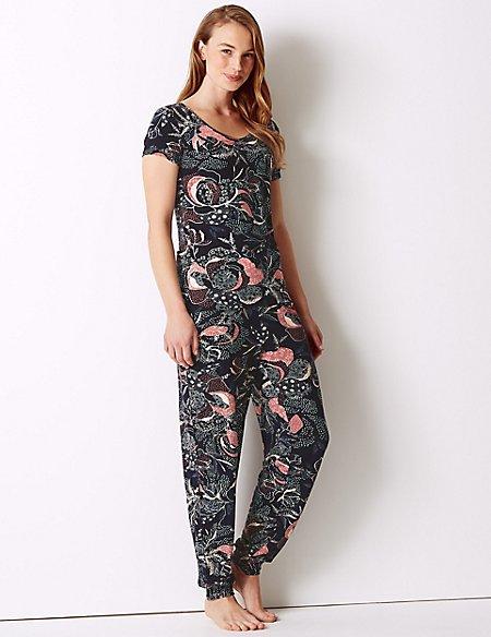Printed Short Sleeve Pyjama Set