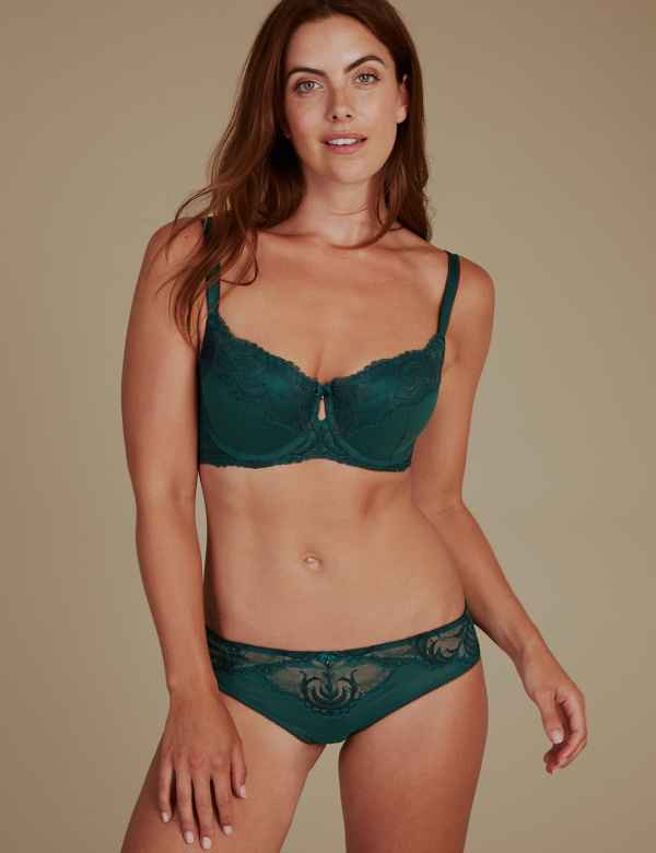 Sophia Lace Set with Padded Balcony A-E 7f9eb45b7