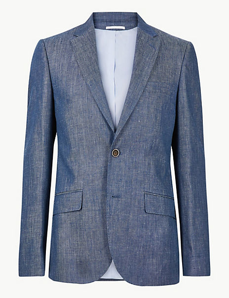 Tailored Fit Linen Miracle Suit