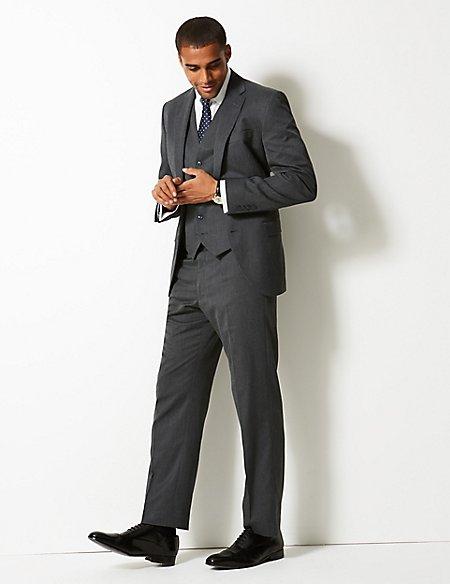Grey Regular Fit 3 Piece Suit