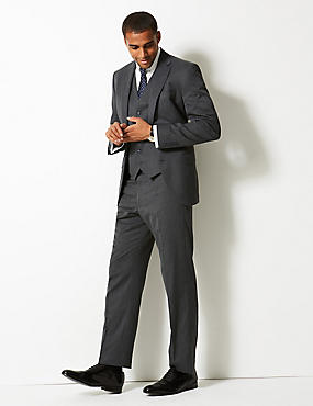 Grey Regular Fit 3 Piece Suit