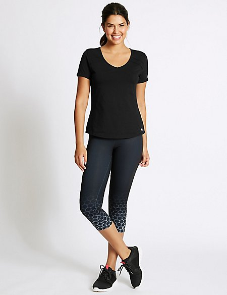 Quick Dry Short Sleeve Top & Cropped Leggings