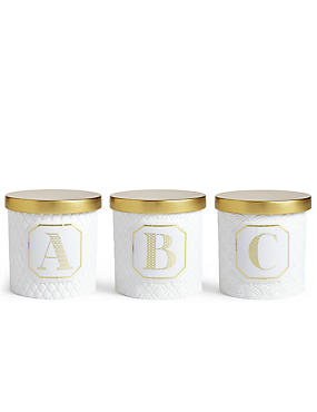 A-Z Individual Gold Lidded Candle