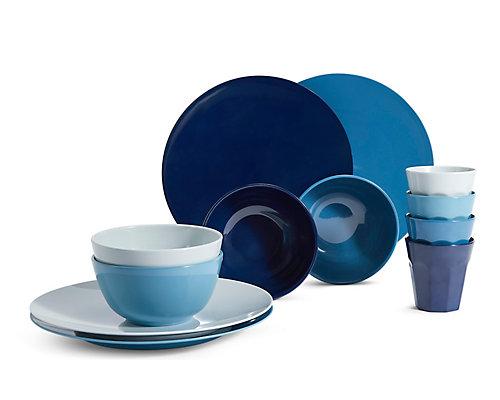 Melamine Blue Picnic Collection