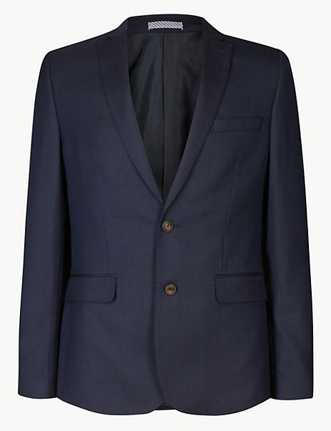 Indigo Textured Skinny Fit Suit